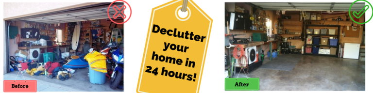 Declutter your home in 24 hours