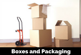 Boxes, packaging and sheds
