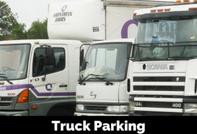 Truck, container and machinery parking
